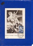 ##(DAN202)- FRANCE 1946-Liberation 4F On Maximum Card, Poitiers Exposition Philatelique Special Cancel - 1940-49