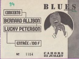 Ticket De Concert °_ Blues Allison & Peterson Cahors Juillet 1994-N°1154- 8x10 - Concerttickets