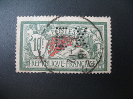 Perforé  Perfin  Référence Ancoper France  :    EX160 - Perfins