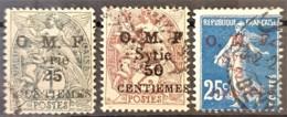 SYRIE 1920 - Canceled - YT 48, 49, 50 - O.M.F. - Syrie (1919-1945)