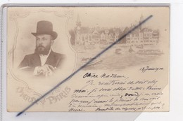 Paris (75) Vieux Paris ,à Situer,en Médaillon Emile Loubet Président ?(carte Précurseur De 1900) - France