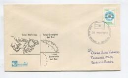 FALKLANDS WAR 26-MAY-1982 ARGENTINA Cover From ISLANDS MALVINAS FALKLAND # 15296   131219B - Stamps
