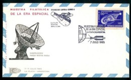 SPACE ROCKET Cover ARGENTINA 1965 # J 521   131219A - Timbres