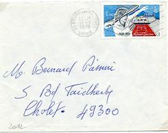 France N° 2012 Y. Et T. Drôme Bourg Les Valence Flamme Ondulée Du 11/01/1979 Sur Lettre - 1961-....