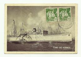 POSTCARD - ESPAÑA - ASTURIAS- SHIP - CABO DE HORNOS - 1942 - Asturias (Oviedo)