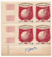FRANCE - Vignette Exposition Textile Internationale LILLE 1951 - Coin Daté 28/7/1950 Signature GANDON - Erinnophilie