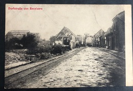 Becelare/ Beselare Dorfstrasse Kriegzeit / Krieg Erinnerungskarte - Zonnebeke
