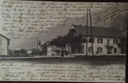 CPA, HOTEL PENSION MOREL, VERCHAIX-MORILLON (74, Haute Savoie), Publicité, écrite En 1904 (M.M 35) - Autres Communes