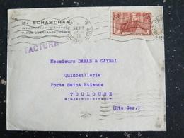 PARIS 119 Bd RICHARD LENOIR - FLAMME MUETTE SUR YT 318 JEAN JAURES - FLAMME MUETTE TOULOUSE P.P. AU DOS - Marcophilie (Lettres)