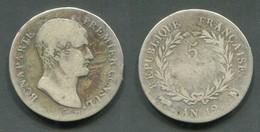 CONSULAT - BONAPARTE PREMIER CONSUL- 5 FRANCS AN 12 M - J. 5 Francs