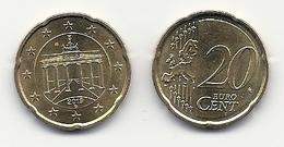 20 Cent, 2019,  Prägestätte (G),  Vz, Sehr Gut Erhaltene Umlaufmünzen - Deutschland