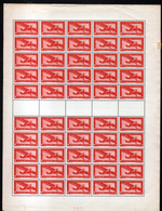 Feuille Complète De 50 Timbres N°PA 14, Neuf**, MNH - Luchtpost