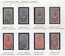 1059 à 1066 Septembre 1946 Médailles Diverses - 1923-1991 URSS