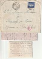 Correspondance Des Prisisonier De Guerre, De Korschen Par Flexanville ( Seine Et Oise) - Marcophilie (Lettres)