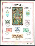 """Belgique - C.O.B. N° 625/630 - Feuillet Souvenir - 5 E ORVAL - """"Lettrines / Sierletters"""". - Feuillets"""