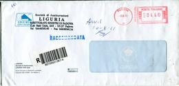 Italia (2011) - Raccomandata Da Padova - Affrancature Meccaniche Rosse (EMA)