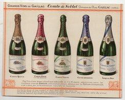 Gaillac (81 Tarn) Dépliant VINS COMTE DE NOBLET (PPP21743) - Publicités