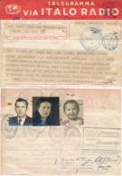 1950 TELEGRAMME CONSUL ARGENTINE EN ITALIE Comme PASSEPORT Pour IMMIGRATION Famille Allemande - Telegramma Italo Radio - Documentos Históricos