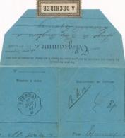 """Cachet TELEGRAPHIQUE à FLEURON  """" EPERNAY 13/11/84 """" MARNE Sur Télégramme D' ANGLURE - Marcofilia (sobres)"""