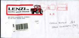 Italia (2001) - Raccomandata A/r Da Borgo Valsugana (TN) - Affrancature Meccaniche Rosse (EMA)