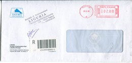 Italia (2009) - Raccomandata Da Padova - Affrancature Meccaniche Rosse (EMA)