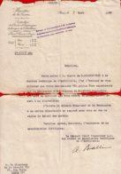 1930 - Lettre Du Ministère De La Guerre Pour Proposition D'un Essai D'un ECONOMISEUR VIX Sur Matériel Automobile - Véhicules
