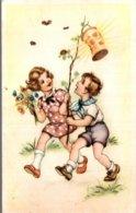 ENFANTS  LES INSECTES ATTIRES PAR LA LANTERNE - Illustratori & Fotografie