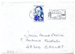 France N° 2032B Y. Et T. Tarn Castres Flamme Illustrée Du 20/12/1979 Sur Lettre - 1961-....