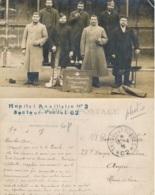 1915 HOPITAL AUXILIAIRE N°3 Secteur Postal 62 CP PHOTO Militaires Blessés BEAUVAIS Oise Collège St Esprit - Lettre - Marcofilia (sobres)