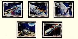 Angola 1986 Y&T N°722 à 726 - Michel N°746 à 750 (o) - 25ans Du 1er Homme Dans L'espace - Angola