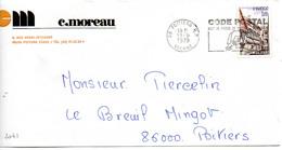 France N° 2041 Y. Et T. Vienne Poitiers RP Flamme Illustrée Du 13/09/1979 Sur Lettre - 1961-....