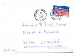 France N° 2045 Y. Et T. Bas Rhin Dorlisheim Cachet Type A9 Du 11/09/1980 Sur Lettre - 1961-....