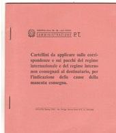 C33/CP10  ( MOD. 24-B ) CARTELLINI X CORRISPONDENZE NON CONSEGNATE 56 PZ. - Posta
