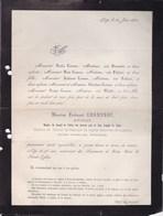 LIEGE Ferdinand CORNESSE Avocat Ancien Conseiller Provincial  55 Ans 1871 Famille FREDERICI BERNIMOLIN - Décès