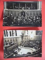 2 Photos Originale 1946 Procès De GIBRAT Robert  Crime D'indignité Nationale A Appartenu Au Gouvernement De Vichy Pétain - Famous People