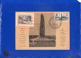 ##(DAN202)- FRANCE 1947- 6F+4F Saint Nazaire On Maximum Card,commando Britannique Cancel+ Erinnophile - 1940-49