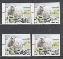 Aland 2000 - ATM - Pets: Sheep, Mi-Nr. 11, 4 W., MNH** - Aland
