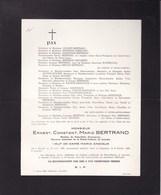 DINANT LOUVAIN Ernest BERTRAND Directeur Honoraire Prison De Leuven  1868-1949 ANCIAUX DERBOVEN - Décès