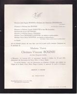 MESSANCY IXELLES Marguerite LICHTFUS Veuve Chrétien BOUNIE 1871-1958 Familles FREDERICKX MAROTTE SITTINGER - Décès