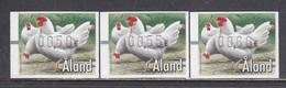 Aland 2002 - ATM - Pets: Chicken, Mi-Nr. 13, 3 W., MNH** - Aland