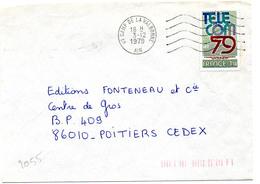 France N° 2055 Y. Et T. Ain Camp De La Valbonne Flamme Ondulée Du 03/12/1979 Sur Lettre - 1961-....