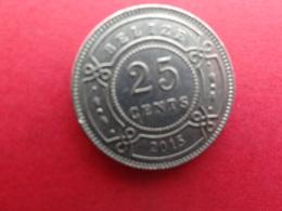 Belize  25 Cents  2015  Km !!! - Belize