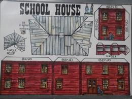 Cut Out School House Wild West - Sonstige