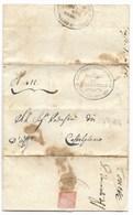 GOVERNO PROVVISORIO DI MURAT - DA SAN MARCELLO A CASTELPLANIO - 23.7.1814. - ...-1850 Préphilatélie