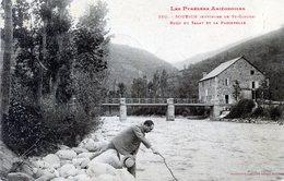 09  SOUEICH  (ENV DE ST GIRONS)  BORD DU SALAT ET LA PASSERELLE - Saint Girons
