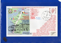 ##(DAN202)-Belgium 1981-Marathon Waterloo-St.Jean De Luz Cover By Royal Air Forces Escaping Society - Francobolli