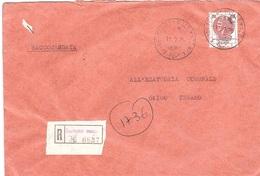 £400 SIRACUSANA RACCOMANDATA ANNULLO TERAMO 1 VIALE MAZZINI - 6. 1946-.. Repubblica