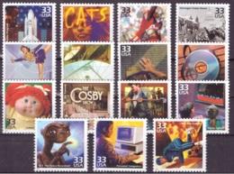 Etats Unis USA 2000 - MNH ** - Années 80 - Michel Nr. 3243-3257 Série Complète (usa178) - Nuevos