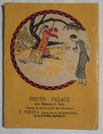 Jolie Pochette Ancienne Illustrée Pour Photographies Photo Palace à Casablanca, Maroc - Période Art Déco - TBE - Matériel & Accessoires