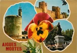 30 - Aigues Mortes - Multivues - Fleurs - Pensées - Carte Neuve - Voir Scans Recto-Verso - Aigues-Mortes